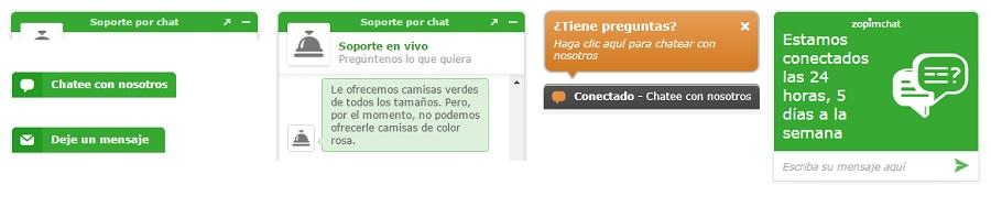 Diseños de chats online