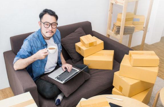 Packaging de productos de la tienda online