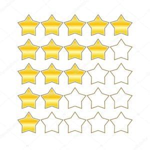 Valoración estrellas de productos